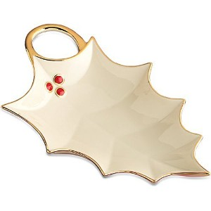 Lenox Holly Leaf Candy Dish by Lenox