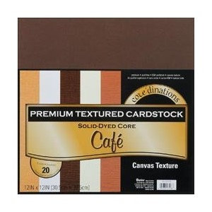 Bulk Buy: Darice Core'dinations Value Pack Cardstock 12'X12' 20/Pkg Cafe Textured GX220039 by Darice