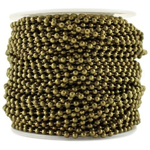 CleverDelights Ball Chain Roll - 100 Feet - Antique Bronze Color - 2.4mm Ball - #3 Size - Bulk by...