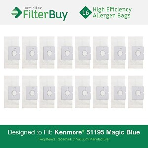 16–Kenmore 51195MagicブルーCanister Micro Allergen真空バッグ。Designed by FilterBuyを交換パーツ# Kenmore 20–...