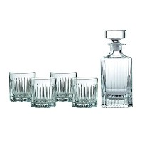 Royal Doulton Linear Spirit Decanter with (Set of 4), Clear by Royal Doulton [並行輸入品]