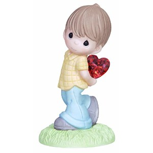 Precious Moments Figurine, Boy with Heart Behind Back [並行輸入品]