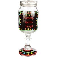 Carson Home Accents The Original Red Nek Making Spirits Bright Purdy Pints Drinking Jar, 16-Ounce ...