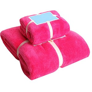 Linyuan 2PCS Microfibre Towel Extra Large Bath Towel Quick Dry タオル for Travel Camping Shower