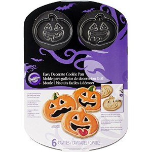 Wilton 2105-1292 Jack-O-Lantern 6-Cavity Cookie Pan