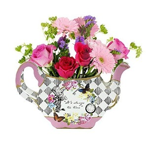 Talking Tables Truly Alice Teapot Vase Table Decoration for a Tea Party, Multicolor