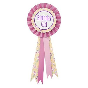 Talking Tables Pony Party Birthday Girl Rossette Badge for a Birthday Party , Pink