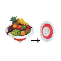 12 Collapsible Elliptical Colander Item # 76-012 by GinsonWare