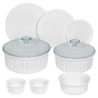 CorningWare 10 Piece Round Bakeware Set, White by CorningWare