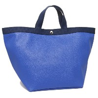 Herve Chapelier バッグ エルベシャプリエ 725GP 17O19N リュクス L SQUARE BASE TOTE BAG トートバッグ OUTREMER/NAVY [並行輸入品]