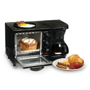 Elite Cuisine EBK-200B Maxi-Matic 3-in-1 Multifunction Breakfast Center, Black by Elite Cuisine