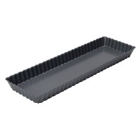 Baker's Pride 36 x 12 cm 14 x 4.5-inch Non Stick Rectangular Flan Pan by Bakers Pride