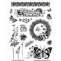 "Hot Off The Press Acrylic Stamps 6""X8"" Sheet-Unforgettable (並行輸入品)"