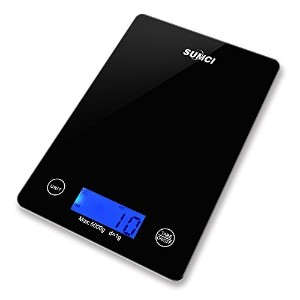 Sumci Glass Kitchen Scale Electronic Scale Kitchen Scale Food Scale Household Nutrition Scales 5kg ...