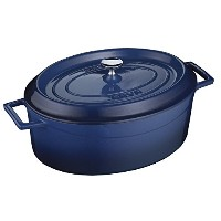 Lava Signature Enameled Cast-Iron Oval Dutch Oven - 5 Quart, Cobalt Blue [並行輸入品]