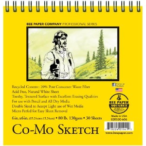 Bee Paper Co-Mo Sketch Pad, 6-Inch by 6-Inch by Bee Paper Company