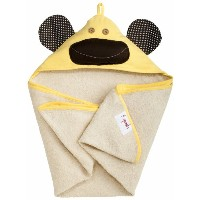 3 Sprouts Hooded Towel Yellow Monkey (並行輸入)