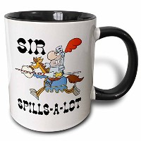 Dooni Designs – Funny SirナイトDesigns – Funny Knight Sir Spills A Lot – マグカップ 11 oz ホワイト mug_203613_4