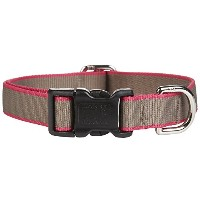 Harry Barker Chelsea Collar - Taupe & Pink - Medium - 12-20 inch by Harry Barker