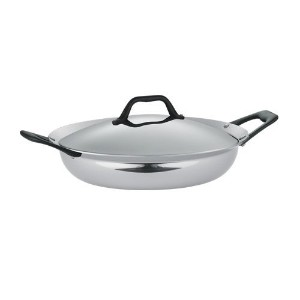 Tramontina Limited Editions Barazzoni 3 Quart Stainless Steel Covered Tri-Ply Clad Everyday Pan ...