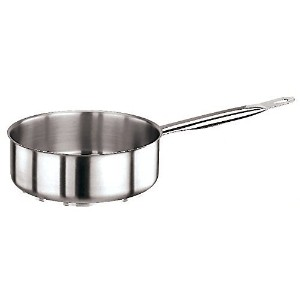 Paderno Stainless Steel 6 1/8 Quart Saut? Pan [並行輸入品]