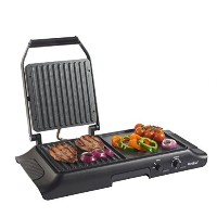 VonShef Electric Grill Griddle, Sandwich, Panini Press and Griddle Plate [並行輸入品]