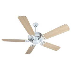 "Craftmade K10843 American Tradition Ceiling Fan with Plus Series Maple Blades, 52"", White [並行輸入品]"