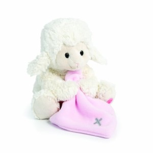 Nat and Jules Jesus Loves Me Musical Plush Lamb with Blanket, Pink by Nat and Jules [並行輸入品]