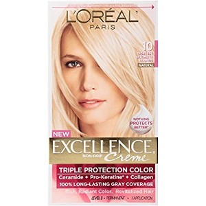 ロレアル L'Oreal Paris Excellence Creme Pro - Keratine 10 Light Ultimate Blonde ブロンド ヘアダイ [並行輸入品]