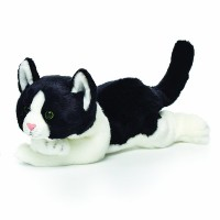 Nat and Jules Plush Toy, Black and White Cat, Large by Nat and Jules