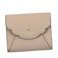 KATE SPADE(ケイトスペード) 小銭入れ LEEWOOD PLACE L.BE PWRU5384 SMALL WALLET SNAP CLOSURE SOFT PORCINI | BLACK...