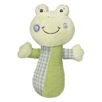 Mary Meyer Baby Cheery Cheeks Rattle Hop Hop Frog (並行輸入)