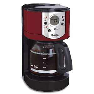 ミスターコーヒーbvmc-cjx36-am 12 Cup Programmable Coffee Brewer with Brew強度セレクタ、cjx36、、レッド