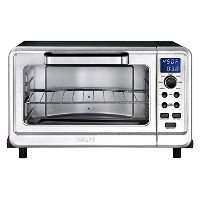 Krups Metal 6-Slice Digital Convection Toaster Oven in Black/Silver by KRUPS