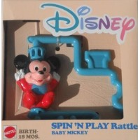 DISNEY SPIN'N PLAY Rattle BABY MICKEY by Disney