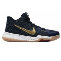 """Nike Kyrie 3 """"Obsidian"""" キッズ/レディース Obsidian/Metallic Gold/Summit White ナイキ カイリー3 Kyrie Irving カイリー..."""