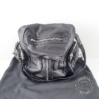 【ALEXANDER WANGアレキサンダーワン】 MARTI BACKPACK IN WASHED BLACK WITH RHODIUM マーティ コンバーチブルバッグパック&ショルダーバッグ...