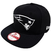 New Era NFL New England Patriots Black White Snapback Cap 9fifty Limited Edition