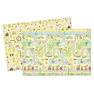 Parklon Pure Soft Playroom Mat Baby Playmat Double Sided Design Fisher Price smile road 両面デザイン...