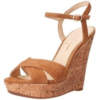 Jessica Simpson Womens Isadoraa Wedge Sandal Honey Brown 7 M US