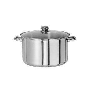 Kinetic Classicor Series Stainless-Steel 8-Quart Stockpot with Tempered Glass Lid 29208 by Kinetic ...