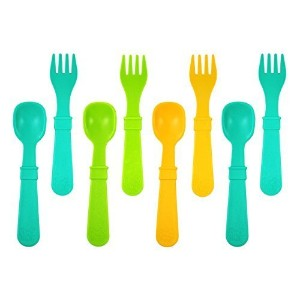 Re-Play 8 Count Utensils, Aqua, Green, Sunny Yellow by Re-Play [並行輸入品]