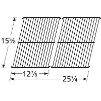 Music City Metals 50642 Porcelain Steel Wire Cooking Grid Replacement for Gas Grill Model Brinkmann...