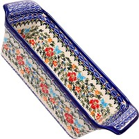 Polish Pottery Ceramika Boleslawiec Bread Meatloaf Baker, 12-3/4-Inch by 5-3/8-Inch, 6 Cups, Royal...