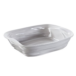 Revol 646296 Froisses Crumple Rectangular Dish, 11.75 by 8.75-Inch, Taupe [並行輸入品]
