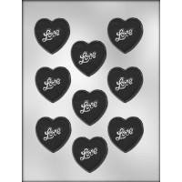 CK Products 2-Inch Puffy Heart with Love Chocolate Mold [並行輸入品]