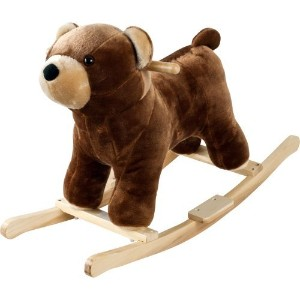 Happy Trails Plush Rocking Barry Bear With Sounds - Brown [並行輸入品]