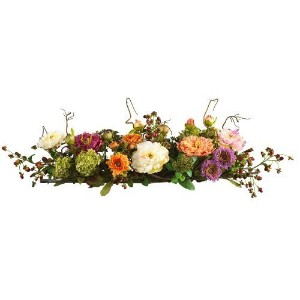 Nearly Natural 4665 Peony Centerpiece Silk Flower Arrangement, Mixed by Nearly Natural [並行輸入品]