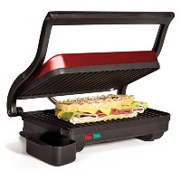 Holstein Housewares HU-09003R-M Panini Grill, Metallic Red by Holstein Housewares [並行輸入品]