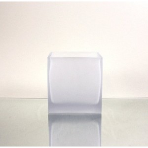 WGV Frosted Square Cube Glass Vase/Votive Candle holder, 5-Inch [並行輸入品]